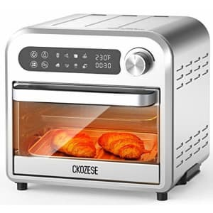 KBS 8-In-1 Small Stainless Steel Digital Toaster Oven Air Fryer, Dehydrator/Bake/Broil/Roast Function, for $120