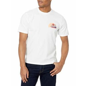 IZOD Men's Saltwater Short Sleeve Graphic T-Shirt, Bright White Cali Waves, Small for $15