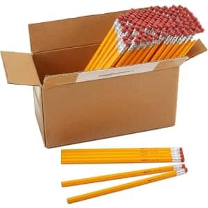 AmazonBasics Unsharpened #2 HB Wood Pencil 144-Pack for $10