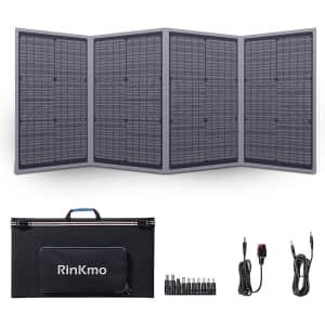 Rinkmo 100W Portable Solar Panels for $120