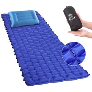 Deerfamy Compact Sleeping Pad and Pillow for $12