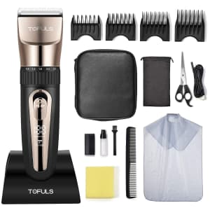 Tofuls Cordless Hair Clippers Kit for $23