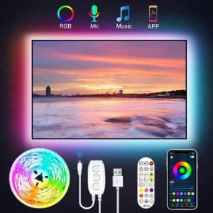 JesLED 9.8-Foot TV Backlight LED Strip Lights for $12