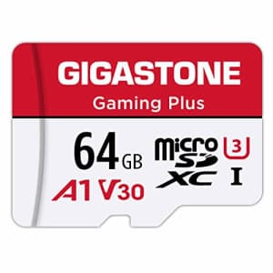 Gigastone 64GB Micro SD Card, Gaming Plus, R/W 90/35MB/s, 4K Video Recording, Micro SDXC UHS-I A1 for $11