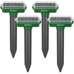 Diaotec Solar Sonic Mole Repellant Spike 4-Pack for $15