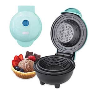 Dash DMWBM100GBAQ04 Mini Waffle Maker for Breakfast, Burrito Bowls, Ice Cream and Other Sweet for $25