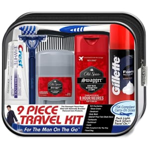 Convenience Kits Men's 9-Piece Grooming Set for $6