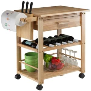 Winsome Wood Finland Kitchen Cart for $129