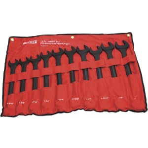 Ironton 10-Piece SAE Jumbo Wrench Set for $80