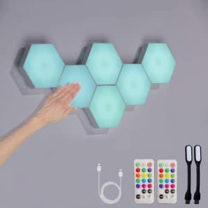Arcwares Hexagonal Wall Light 6-Pack for $29