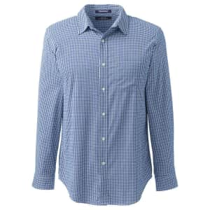 Lands' End Men's Straight Collar Traditional Stretch Shirt for $10