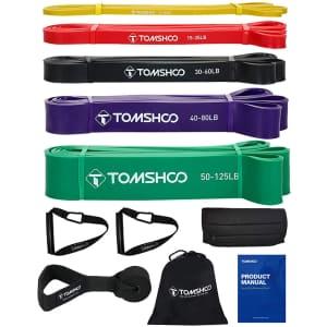 Tomshoo Resistance Bands Set for $14