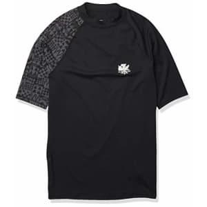 Quiksilver Men's MA Kai Short Sleeve Rashguard UPF 50+, Black, S for $32