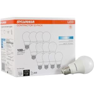 Sylvania 14W A19 LED Light Bulb 12-Pack for $33