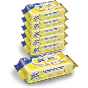 Lysol 480-Count Disinfectant Handi-Pack Wipes 6-Pack for $20