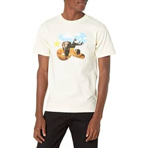 LRG Lifted Research Group Men's Graphic Design Logo T-Shirt, Cream L'EPHANT, S for $15