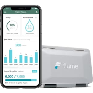 Flume 2 Smart Home Water Monitor & Water Leak Detector for $129