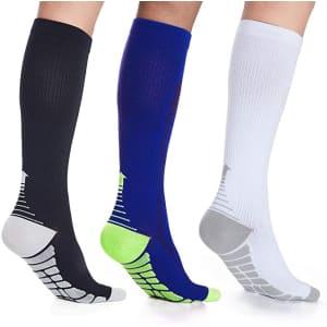 Laiwoo Compression Socks 3-Pack for $9