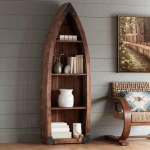 Crestview Collection Mountain View Fir Canoe Bookshelf for $400