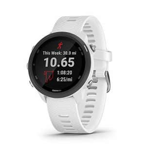 Garmin Forerunner 245 Music, GPS Running Smartwatch with Music and Advanced Dynamics, White for $349