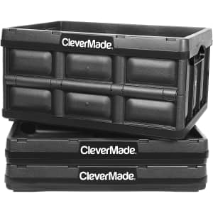 CleverMade 32L Collapsible Storage Bin 3-Pack for $47