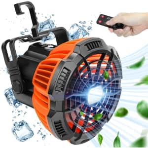 Craftersmark Camping Fan with LED Light for $25