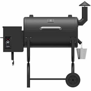 Z GRILLS ZPG-550B 2020 Upgrade Wood Pellet Grill & Smoker, 6 in 1 BBQ Grill Auto Temperature for $379