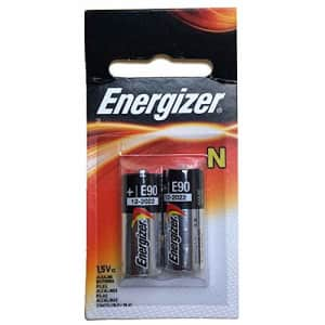 2pk Energizer E90-BP-2 N 1.5V Alkaline Batteries Replaces 810, 910A, 910D, AM5, E90, LR1SG, MN9100, for $7