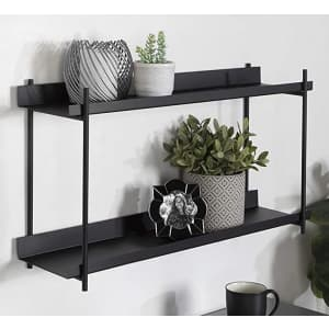 """Kate and Laurel Dominic 28"""" 2-Tier Metal Floating Wall Shelf for $108"""