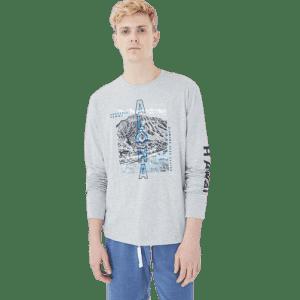 Aeropostale Men's Long Sleeve Aloha Hawaii Graphic T-Shirt for $8