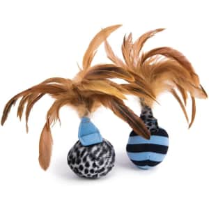 Petlinks Feather Flips Cat Toy 2-Pack for $3