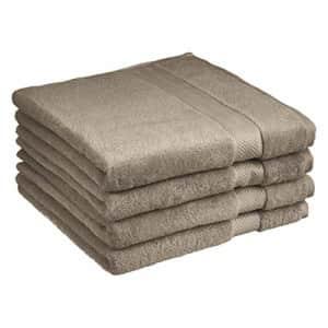 Amazon Basics Egyptian Cotton Bath Towel - 4-Pack, Cocoa Powder for $64