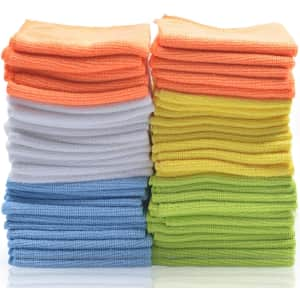 Best Microfiber Cleaning Cloths 50-Pack for $19 via Sub & Save