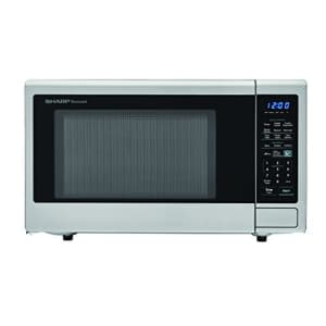 SHARP Stainless Steel Carousel 1.8 Cu. Ft. 1100W Countertop Microwave Oven (ISTA 6 Packaging), for $160