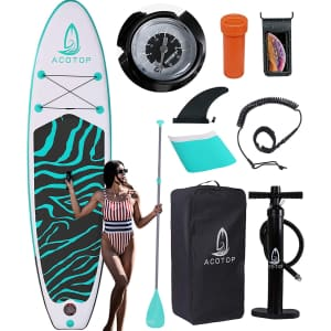 Acotop 10.5-Ft. Inflatable Stand Up Paddle Board for $186