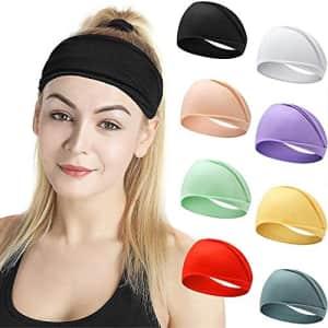 Zuosivnat Wide Headbands 8-Pack for $12