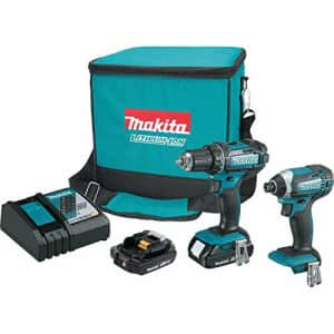Makita 18V LXT Lithium-Ion Compact Cordless 2-Piece Combo Kit for $250