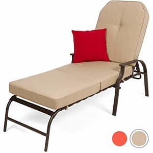 Best Choice Products Adjustable Outdoor Chaise Lounge Chair Furniture for Patio Poolside for $300