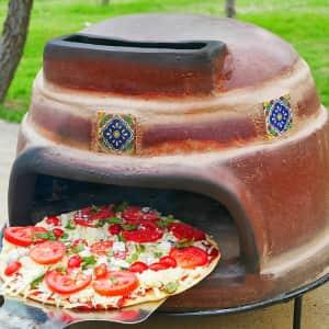 "Ravenna Pottery Talavera 22"" Wood-Burning Outdoor Pizza Oven for $159"