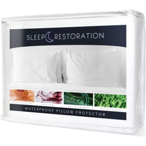 Sleep Restoration Hypoallergenic Waterproof Pillow Protector 2-Pack for $10