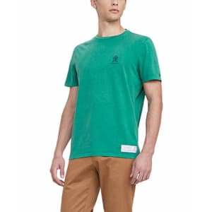 Tommy Hilfiger Men's 35th Anniversary Short Sleeve T Shirt, Radiant Green, X-Large for $19