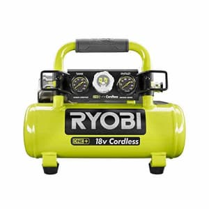 Ryobi 18-Volt ONE+ Cordless 1 Gal. Portable Air Compressor (Tool Only) for $118