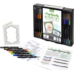 Crayola Signature Crayoligraphy Hand Lettering Art Set for $12
