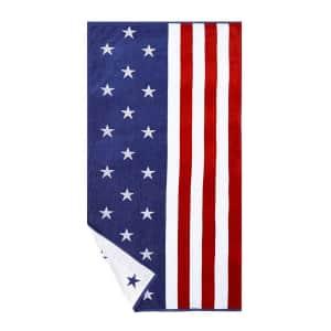 American Flag Beach Towel for $10