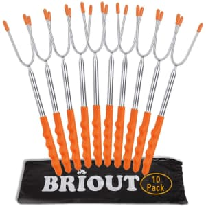 Briout Telescoping Marshmallow Roasting Stick 10-Pack for $14