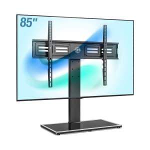 """Fitueyes S Series Swivel Universal 50"""" to 85"""" TV Stand for $75"""