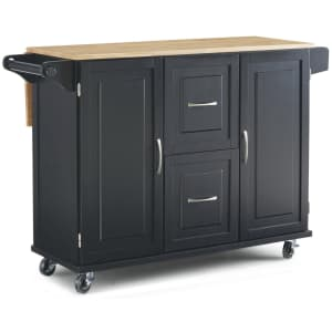 Home Styles Dolly Madison Drop-Leaf Kitchen Cart w/ Natural Wood Top for $284