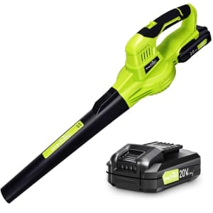 SnapFresh 20V Cordless Leaf Blower with Battery and Charger for $90