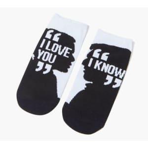 "Women's Star Wars ""I Love You"" Ankle Socks for $1"