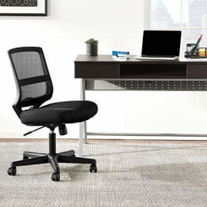 HON ValuTask Mid-Back Mesh Task Chair, Armless Black Mesh Computer Chair (HVL206) for $127